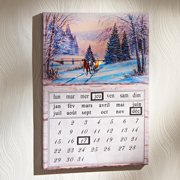 """Ewiger LED-Kalender """"Winterlandschaft"""""""