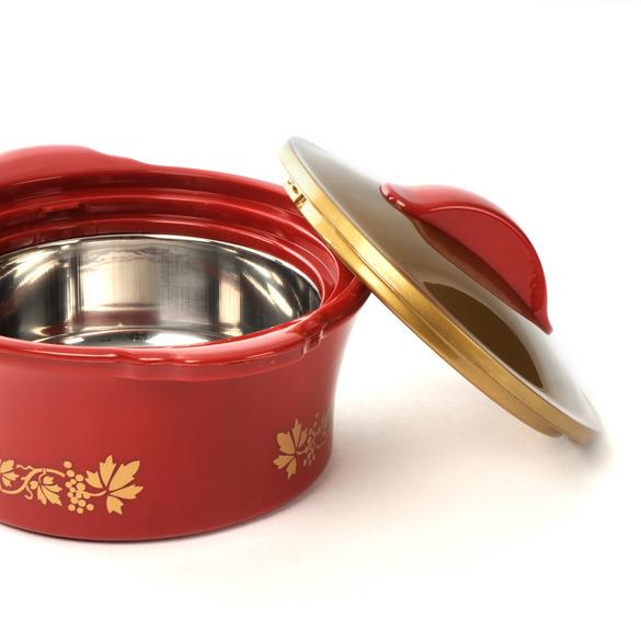 Thermoschüssel rot-gold, 1100 ml