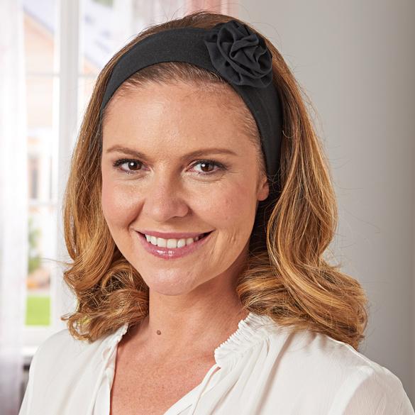 Haarbänder schwarz + weiß,2er-Set