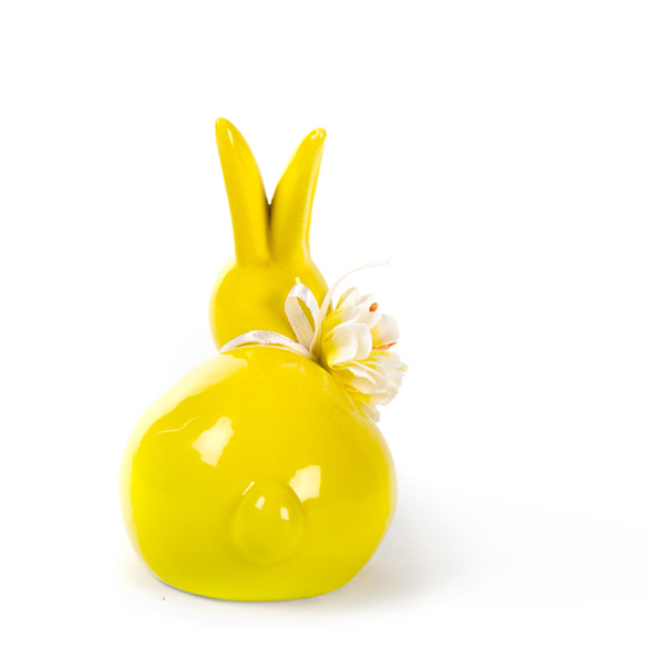 Deko-Hase gelb
