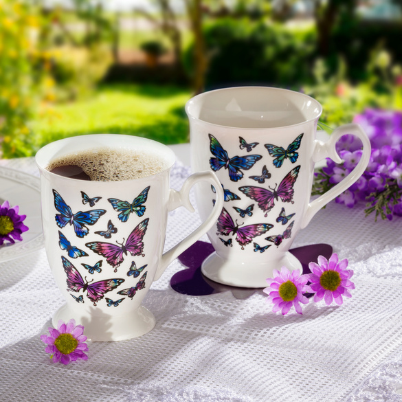 "Tasse ""Schmetterlinge"""