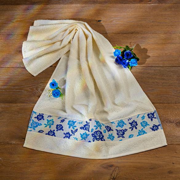 """Handtuch """"Blaue Rosen"""" Casa Bonita"""