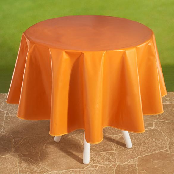 """Wachstischdecke """"Karo"""" orange"""