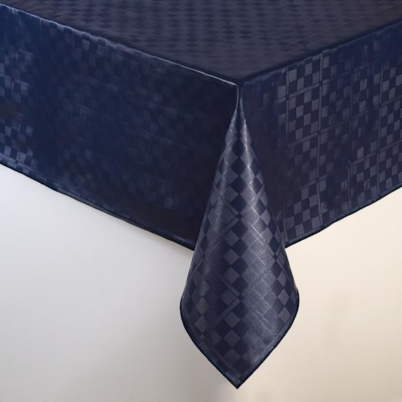 """Wachstischdecke """"Karo"""" blau 140 x 180 cm"""