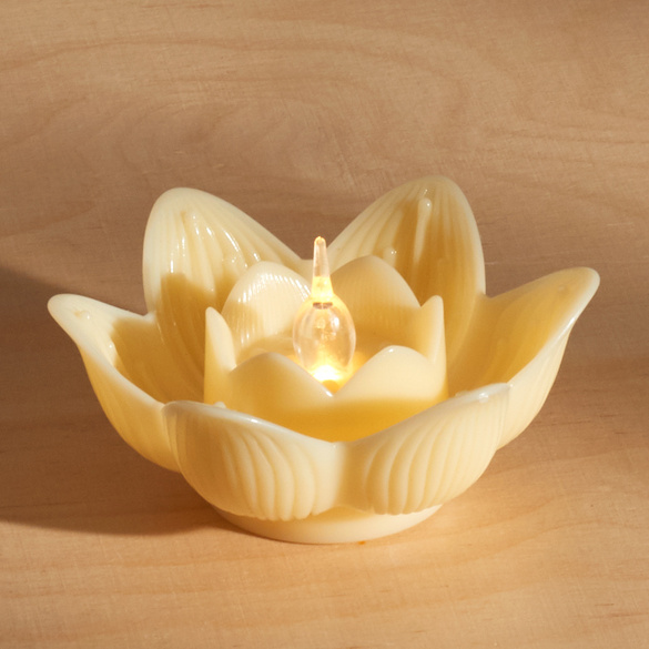 """LED-Teelicht """"Lotusblüte"""" gelb"""