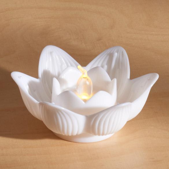 """LED-Teelicht """"Lotusblüte"""" weiß"""