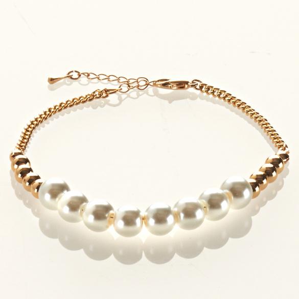 Perlenarmband L 17,5 cm + Verlängerung