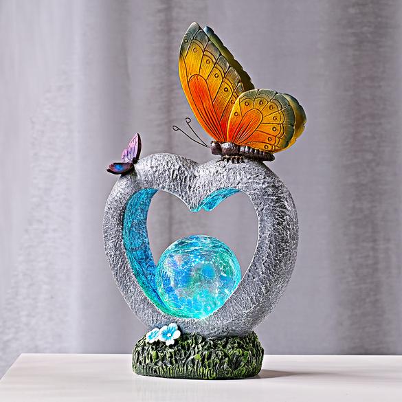 Solar-Herz mit Schmetterlingen