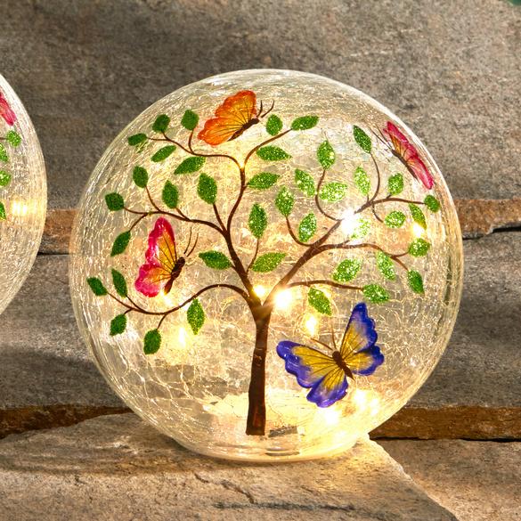 """1 LED-Glaskugel """"Schmetterlingsbaum"""""""