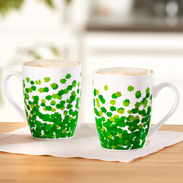 """Kaffeetasse """"Kleeblatt"""" Basilico"""