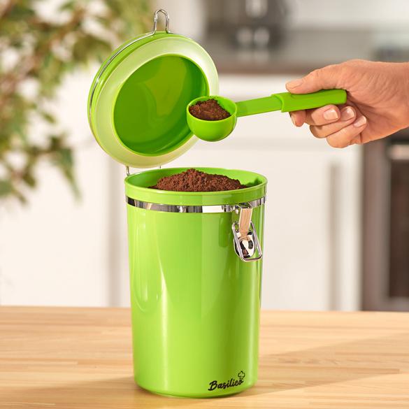 Kaffeedose grün Basilico