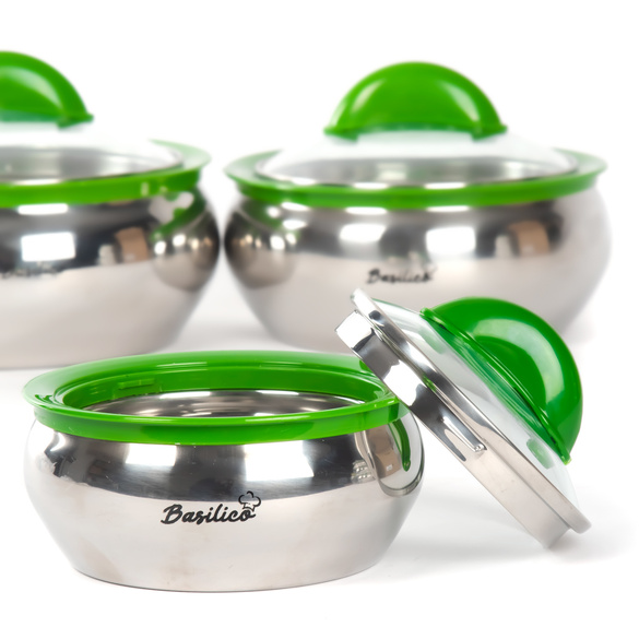 Thermoschüssel Edelstahl grün Basilico, 600 ml