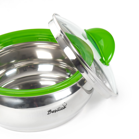 Thermoschüssel Edelstahl grün Basilico, 1500 ml
