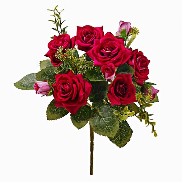 Rosenstrauß dunkelrot
