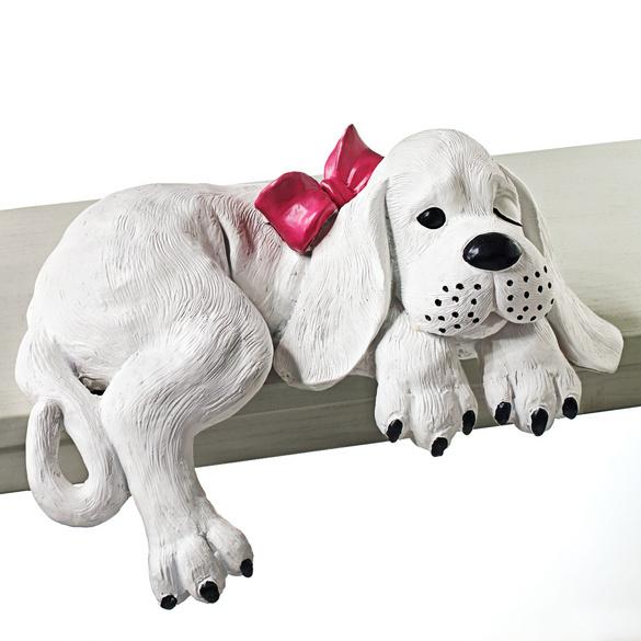 """Kantensitzer """"Hund mit Schleife"""""""