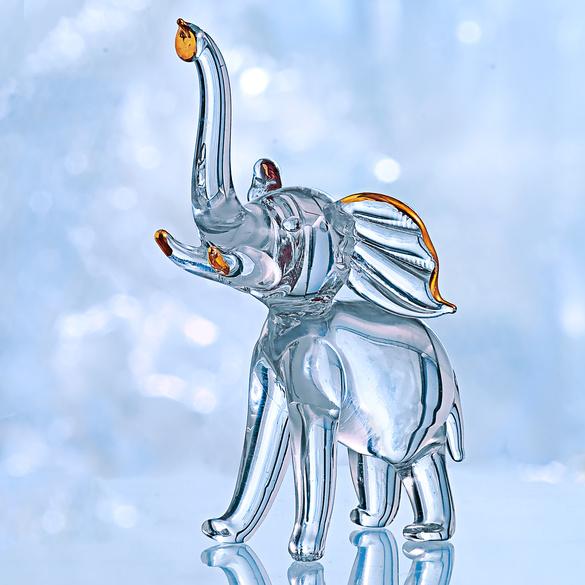 "Glas-Miniatur ""Elefant"""