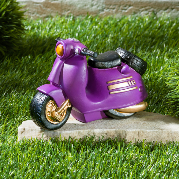 "Spardose ""Motorroller"" lila"