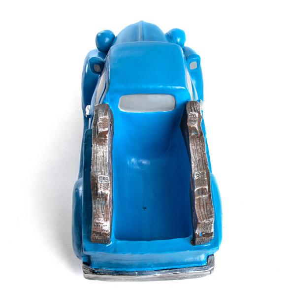 """Pflanztopf """"Auto"""" blau"""