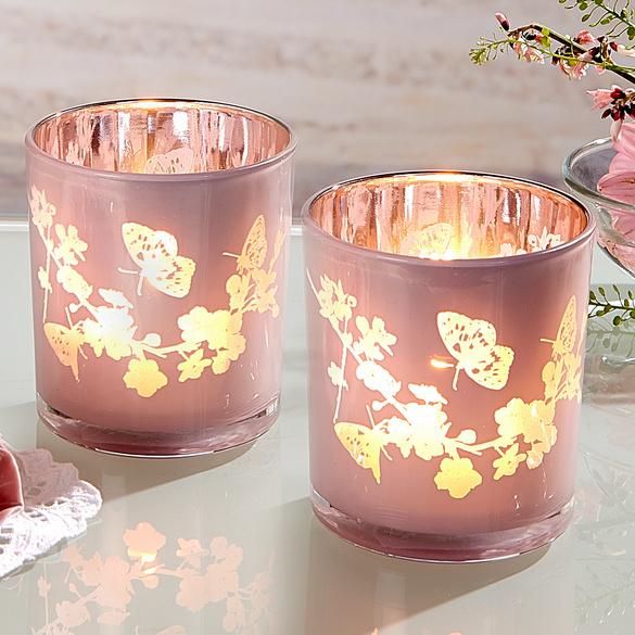 "Teelichtglas ""Schmetterlinge"""
