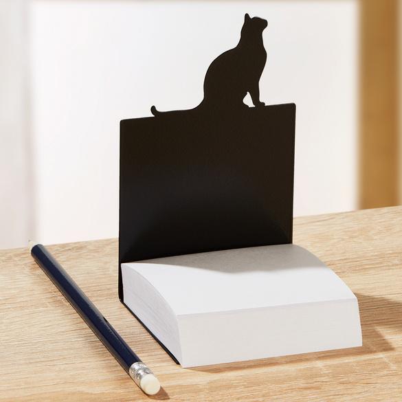 "Zettelbox ""Katze"" mit Haftnotizen"