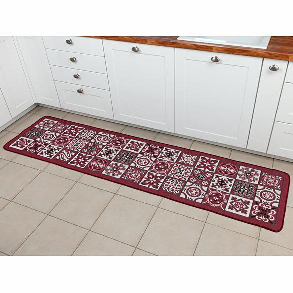 Küchen-Teppich rot 60 x 120 cm
