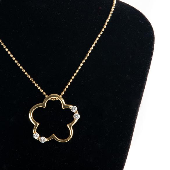 "Halskette ""Blüte"" goldfarben"