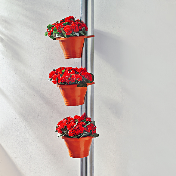Fallrohr-Pflanztöpfe