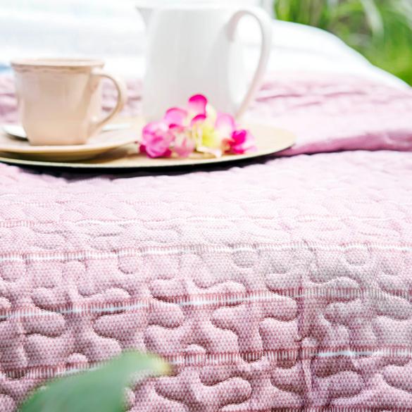 Tagesdecke rosé 170 x 250 cm