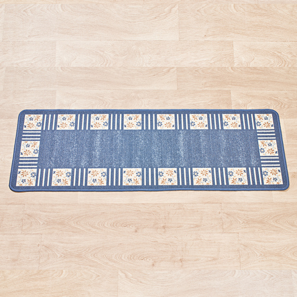 "Teppich ""Karo"" blau Casa Bonita 50 x 150 cm"