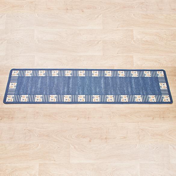 "Teppich ""Karo"" blau Casa Bonita 57 x 240 cm"