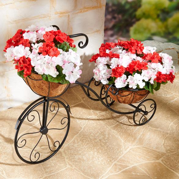 Fahrrad mit 2 Pflanzkörben