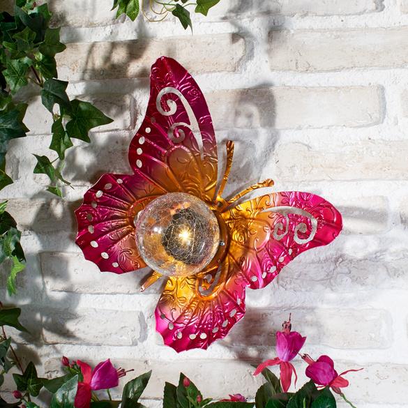 "Solarleuchte ""Schmetterling"" pink Casa Bonita"