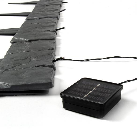 Solar-Beeteinfassung grau