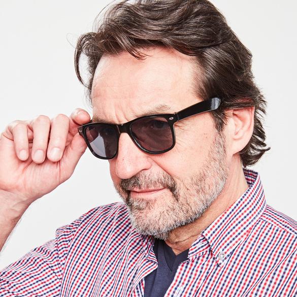 Herren-Sonnenbrille, schwarz