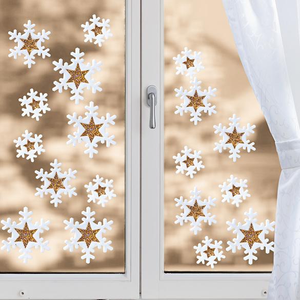 """Fensterbilder """"Schneeflocken"""" 18 Teile"""