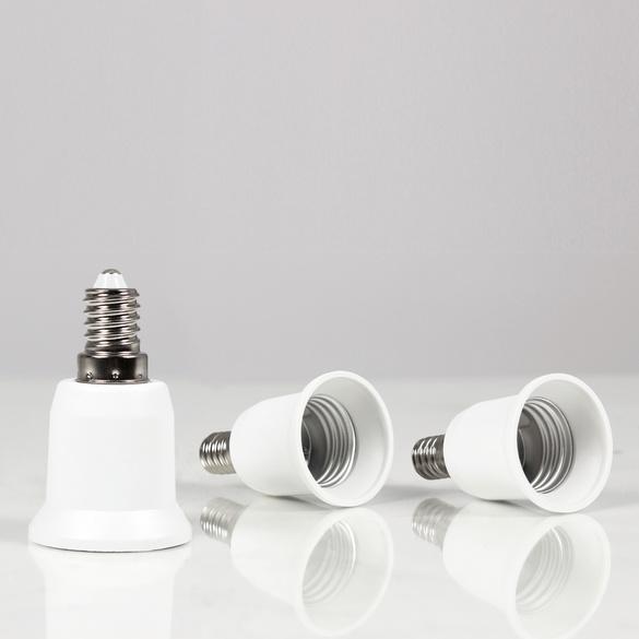 Glühlampen-Adapter E 27 zu E 14