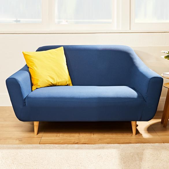 Sofaschoner 2-Sitzer blau bis 180 cm B