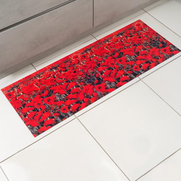 """Küchenteppich """"Mohnblumen"""" 52 x 70 cm"""