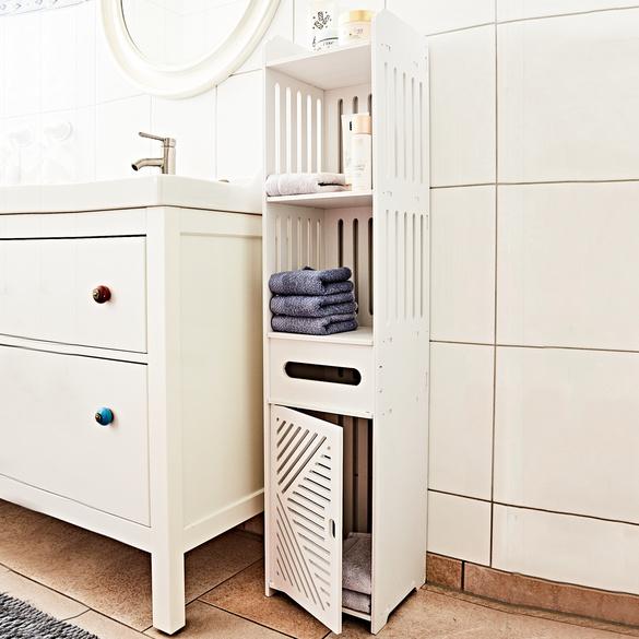 Badezimmer-Hochschrank weiß
