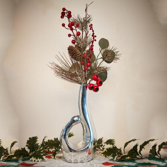 Vase silberfarben