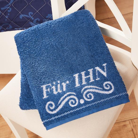 """Handtuch """"Für IHN"""" blau Casa Bonita"""