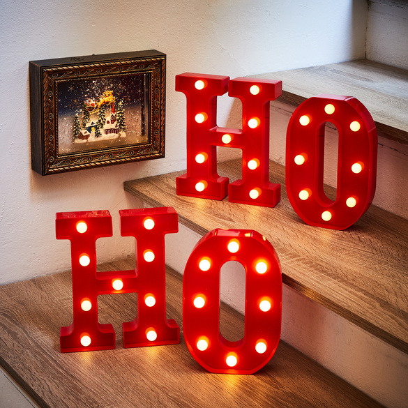 """LED-Buchstaben """"HO"""""""