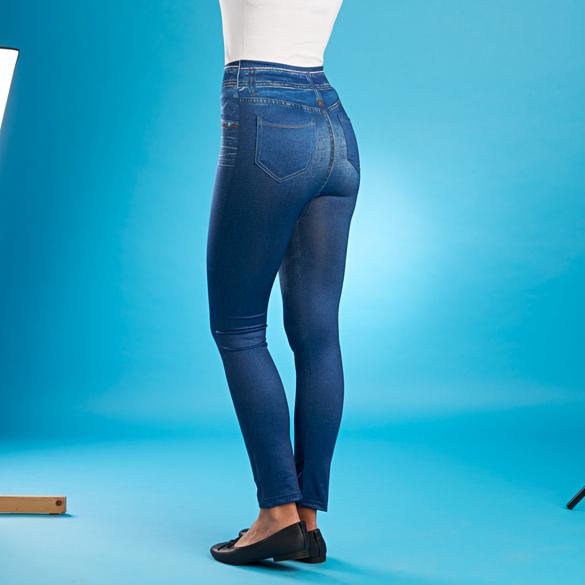 Slim-Jeggings blau