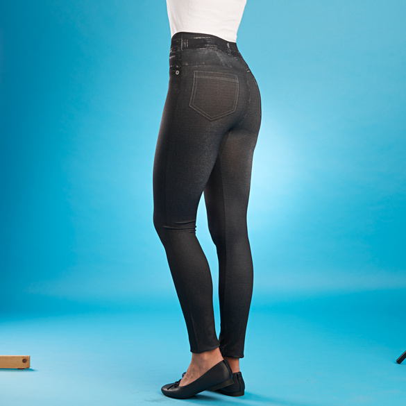 Slim-Jeggings schwarz