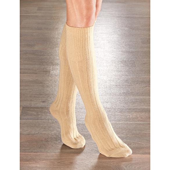 Thermo-Kniestrümpfe für Damen beige