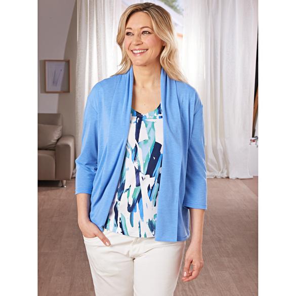 "Shirt ""Aquarell"" blau-weiß"