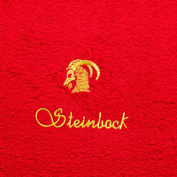 "Handtuch ""Steinbock"" rot"