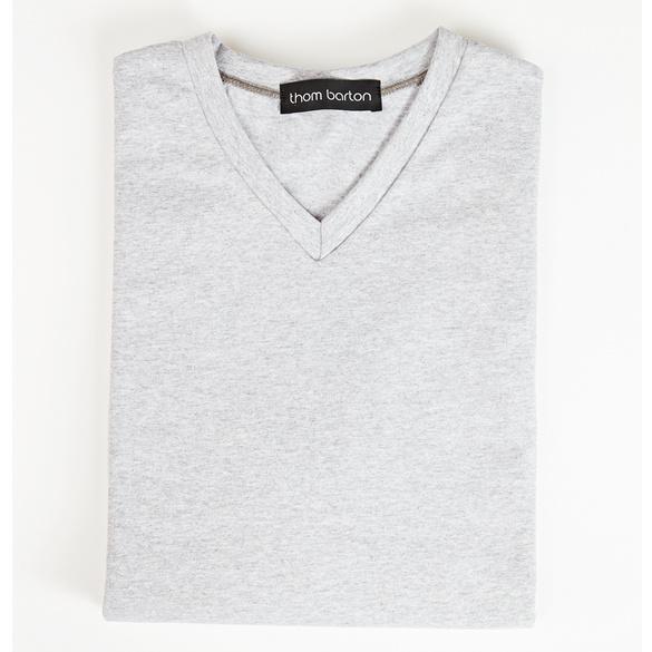 V-Shirt grau-melange
