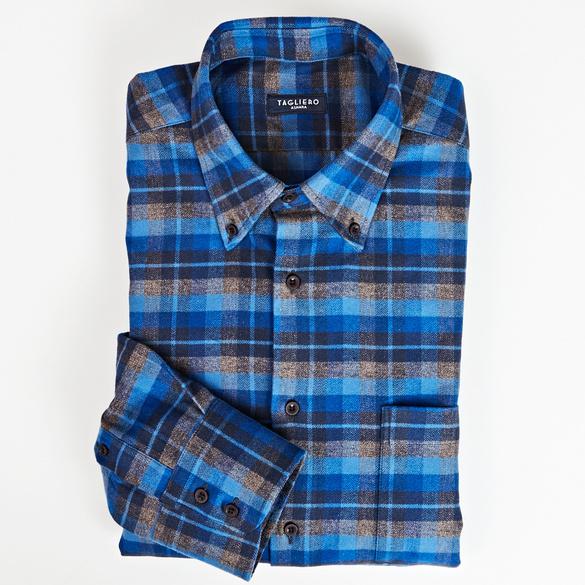 Flanellhemd blau