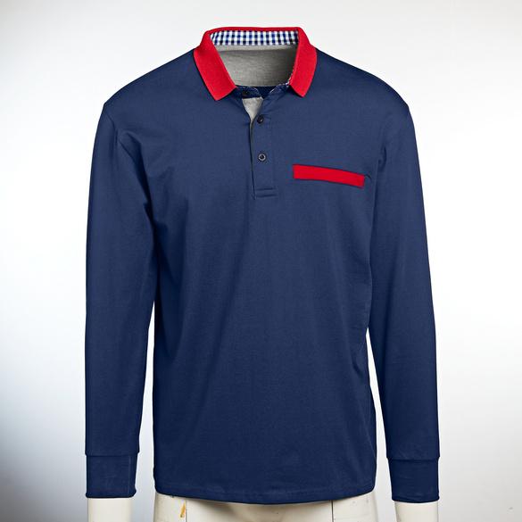 Poloshirt marine/rot